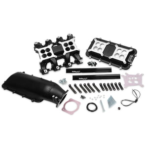 HOLLEY EFI LS1 LS2 LS6 MID-RISE INTAKE MANIFOLD 92MM BLACK WITH FUEL RAILS