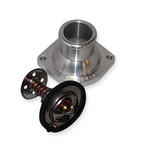 CBM MOTORSPORTS™ LS1/LS2/LS6/LS7STRAIGHT BILLET WATER NECK FITTING W/160F THERMOSTAT & SEAL