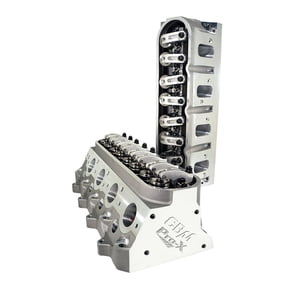 CBM MOTORSPORTS™ PRO-X™ CNC PORTED 6/4 BOLT COMPLETE LS3 CYLINDER HEADS  WITH ROCKERS