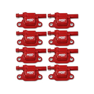 MSD BLASTER GEN V GM COILS, 2014 AND UP, RED, SQUARE - 8 PACK