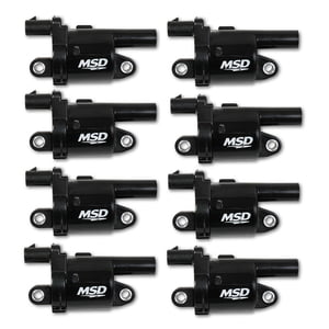 MSD BLASTER GEN V GM COILS, 2014 AND UP, BLACK, ROUND - 8 PACK