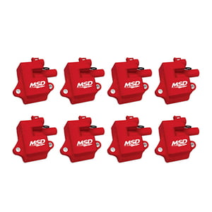 MSD PRO POWER GM LS1/LS6 COILS, 8-PACK, RED