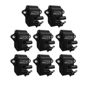 MSD PRO POWER GM LS1/LS6 COILS, 8-PACK, BLACK