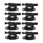 MSD BLASTER GEN V GM COILS, 2014 AND UP, BLACK, SQUARE - 8 PACK