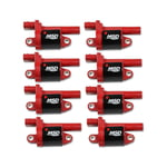 MSD BLASTER GEN V GM COILS, 2014 AND UP, RED, ROUND - 8 PACK