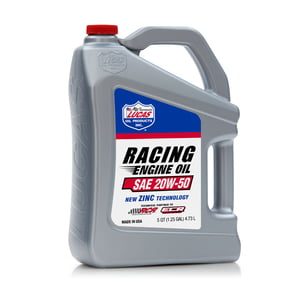 LUCAS OIL HIGH PERFORMANCE RACING ONLY MOTOR OIL MINERAL 20W-50 5 QUART