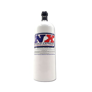 NITROUS EXPRESS 15LB BOTTLE WITH LIGHTNING 500 VALVE